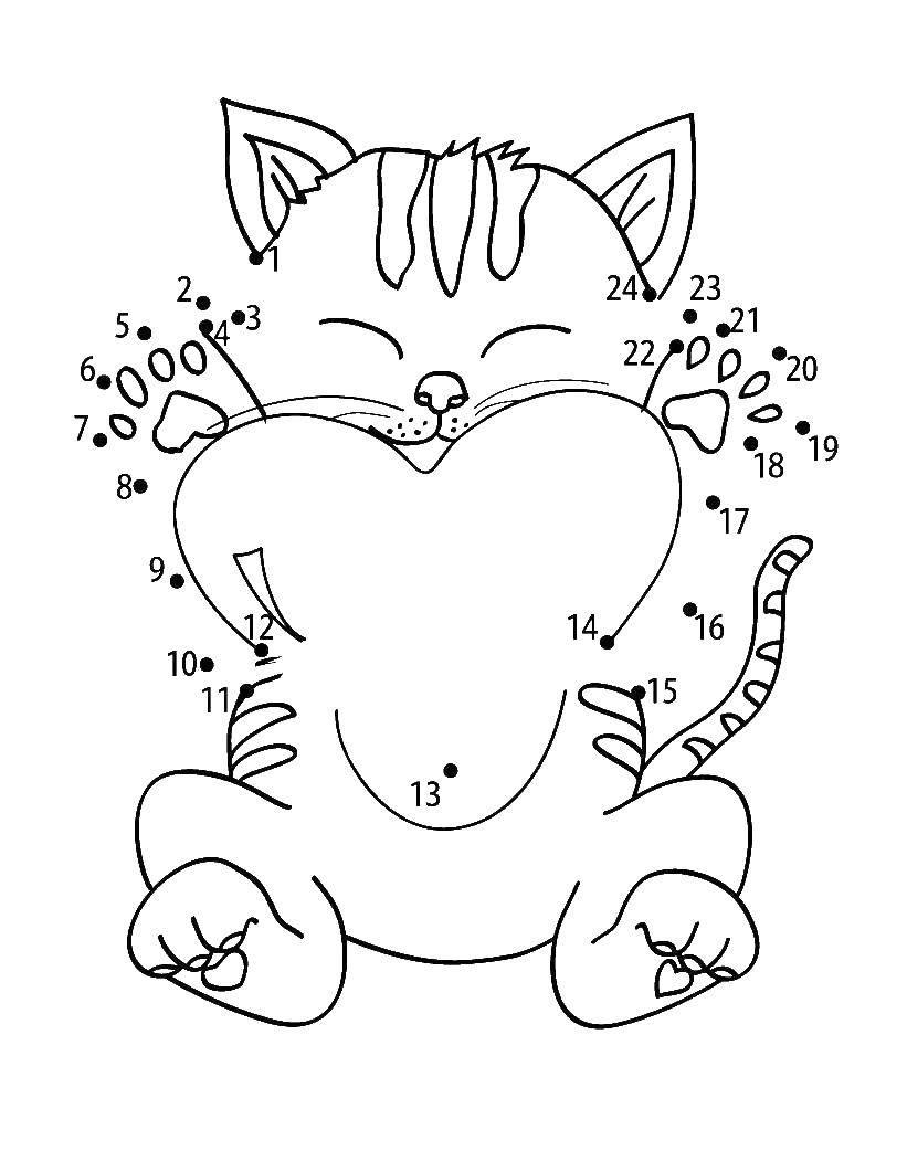еще открытка с кошкой распечатать лук