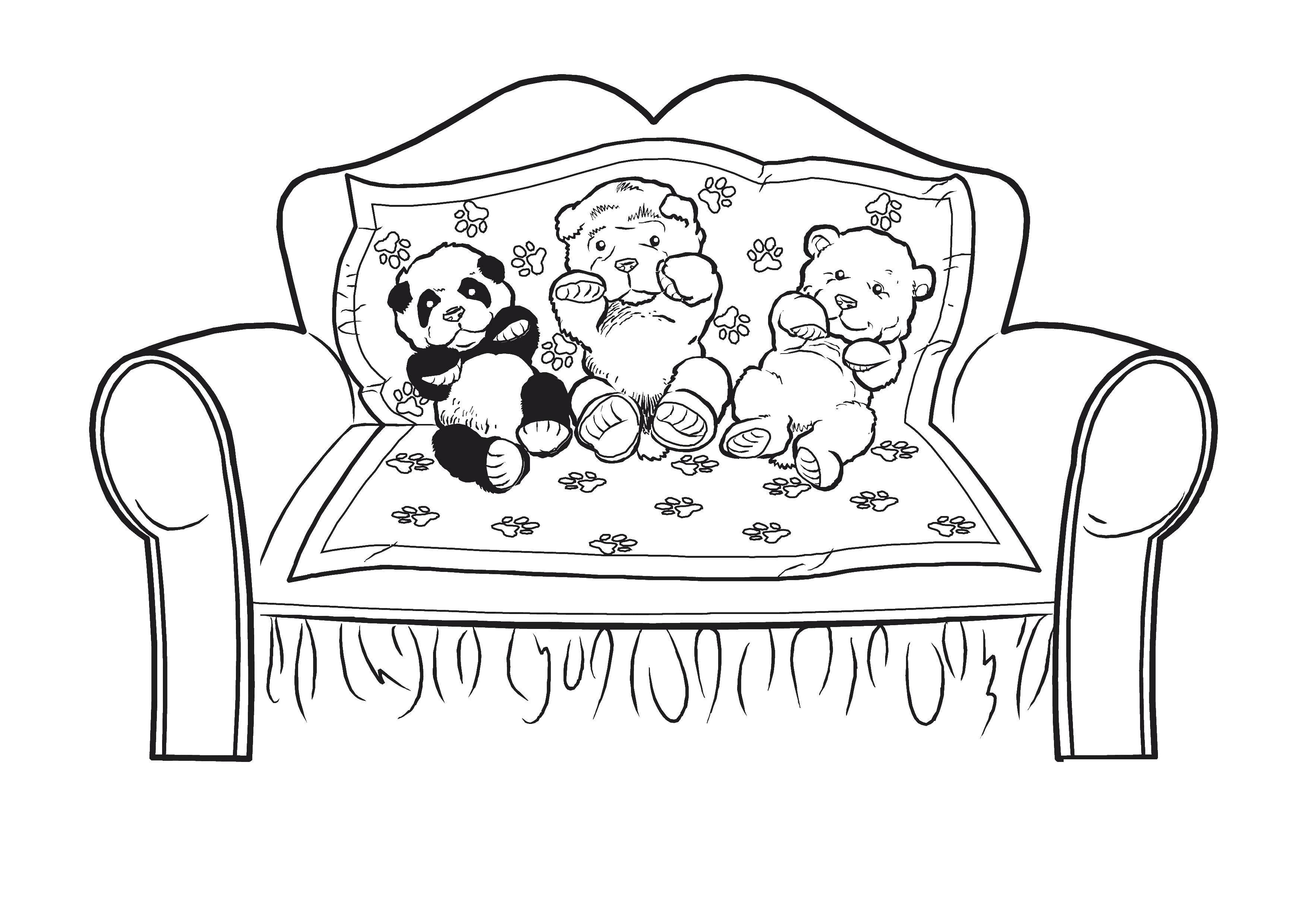 стоят они раскраска кроватка для куклы экран