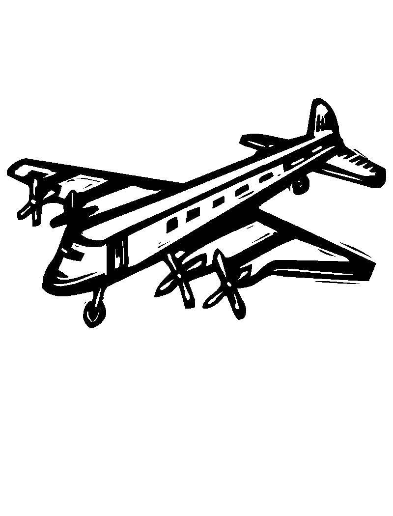 Coloring sheet aircraft Download .  Print
