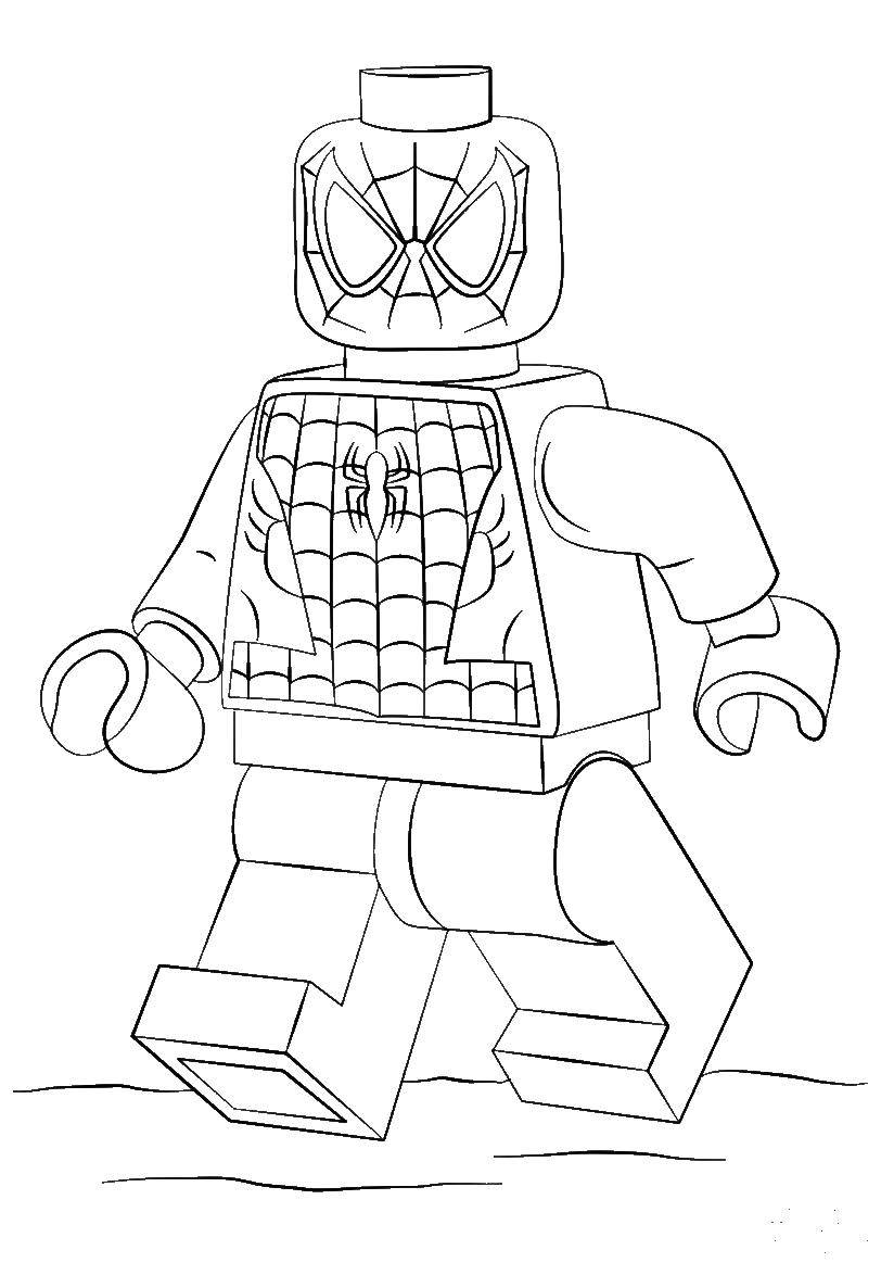 Coloring sheet LEGO Download the boy smiles.  Print ,Face,
