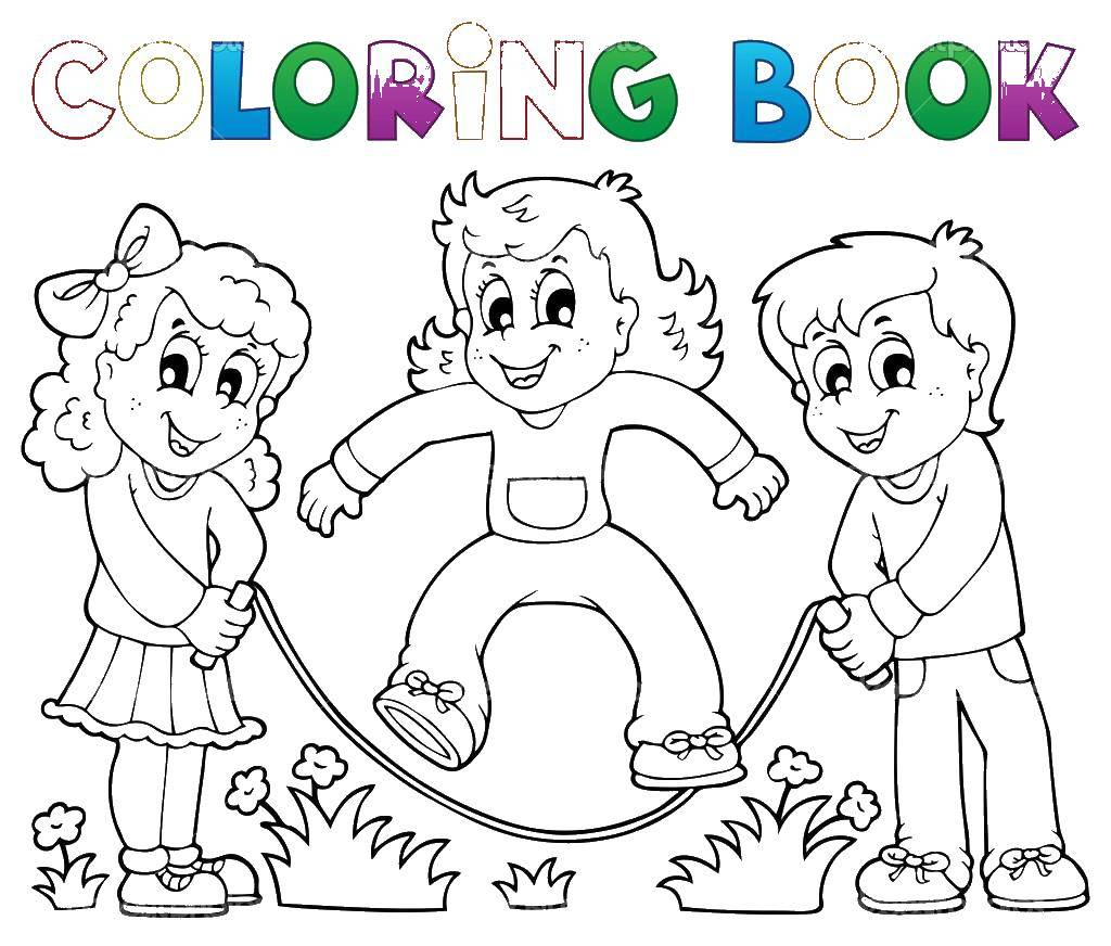 Jump rope coloring pages download and print for free | Preschool ... | 872x1024