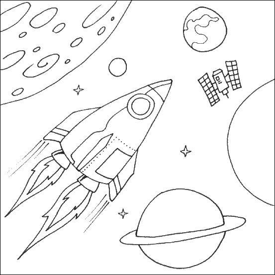 Coloring sheet missiles Download .  Print