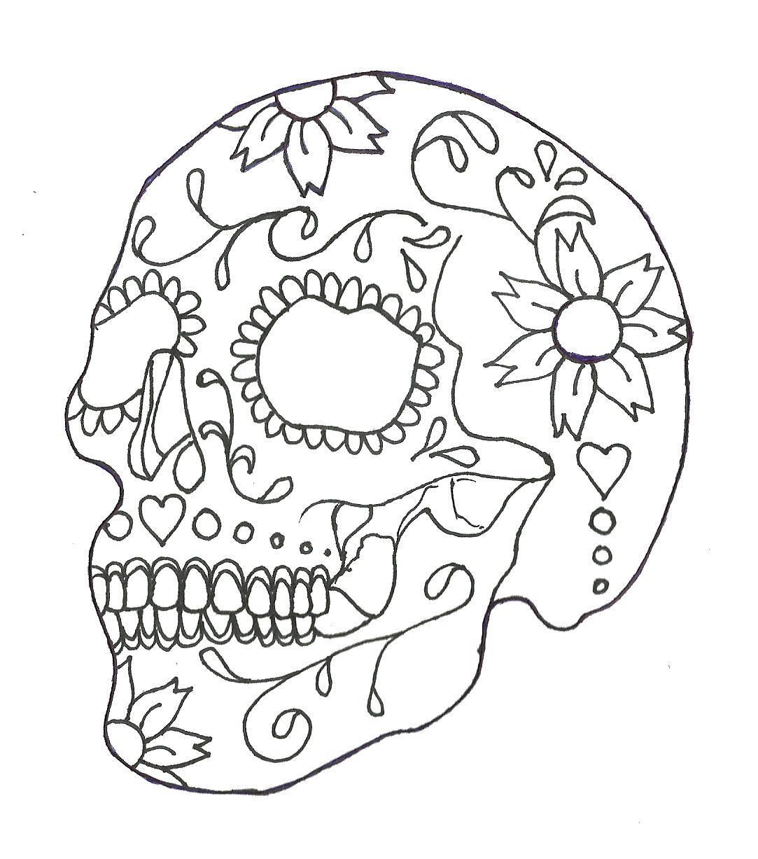 череп человека раскраска