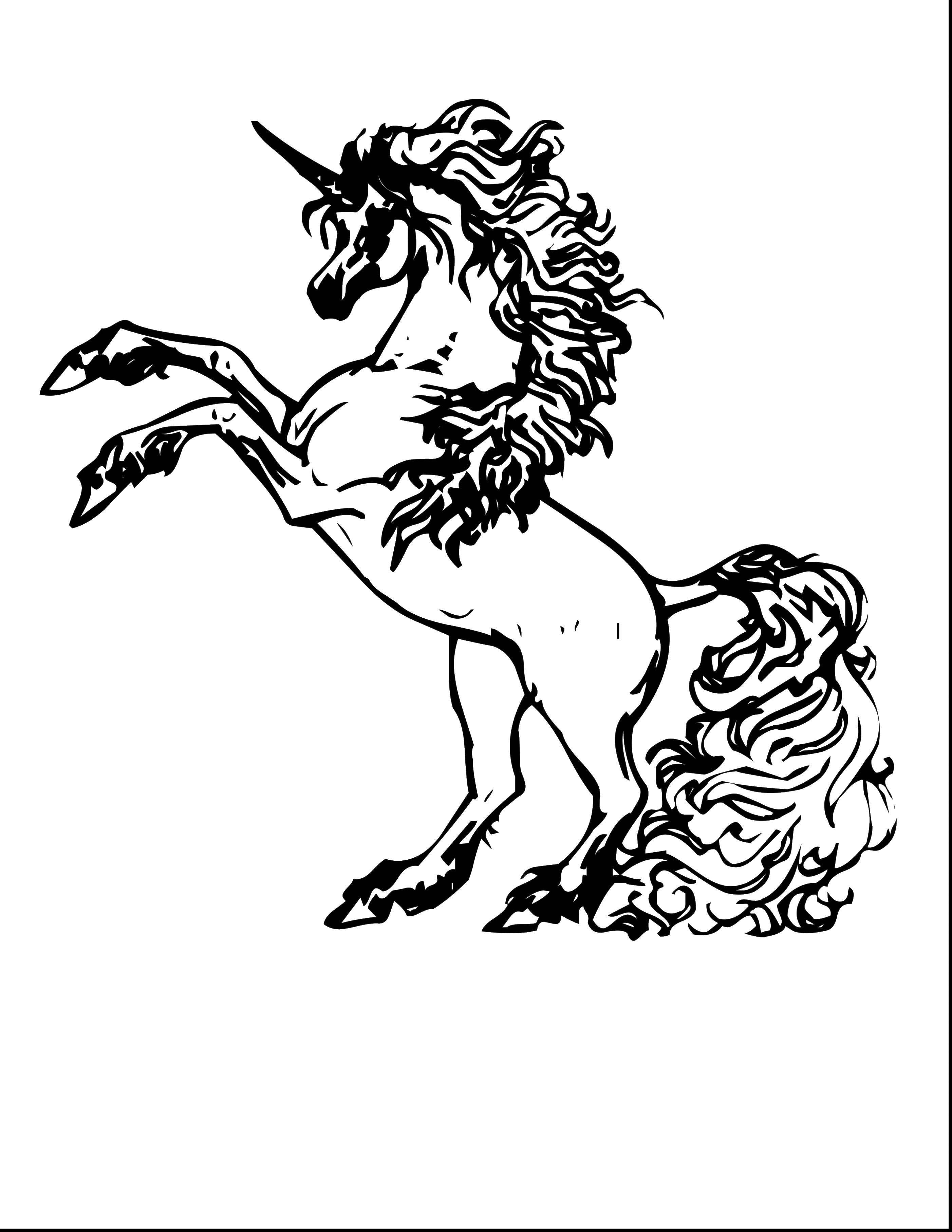 Раскраски красивом, Раскраска Единорог с красивом гривой ...