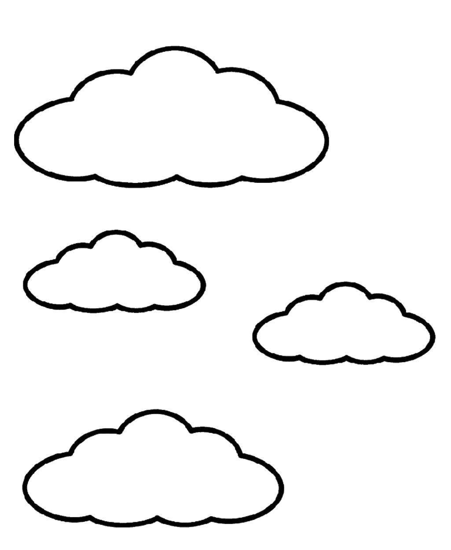 Небо картинка черно белая для детей