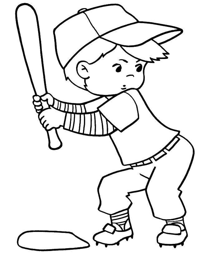 Coloring Baseball. Category Sports. Tags:  baseball.