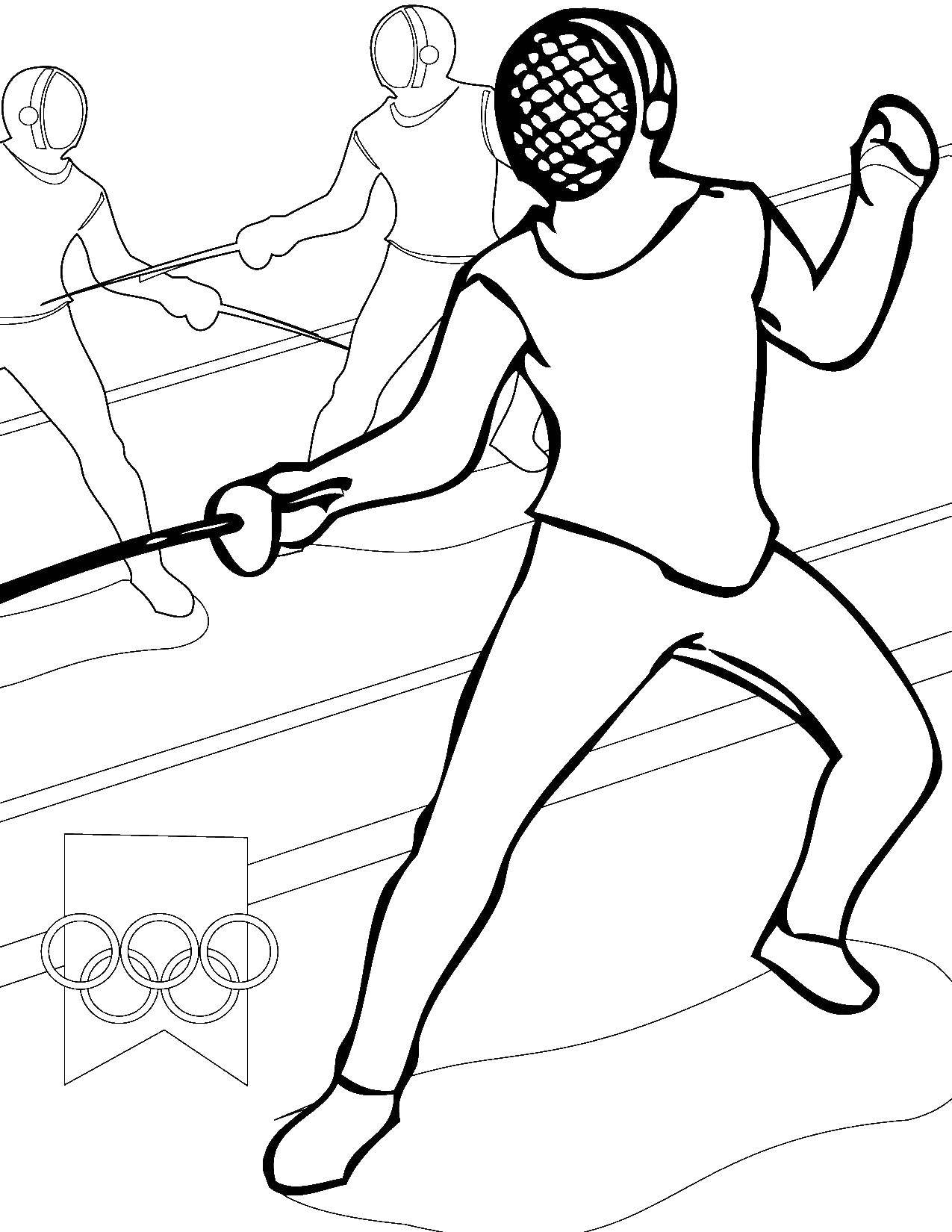 спортсмен на картинке для рисования