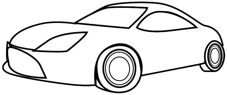 Картинки контурные машины