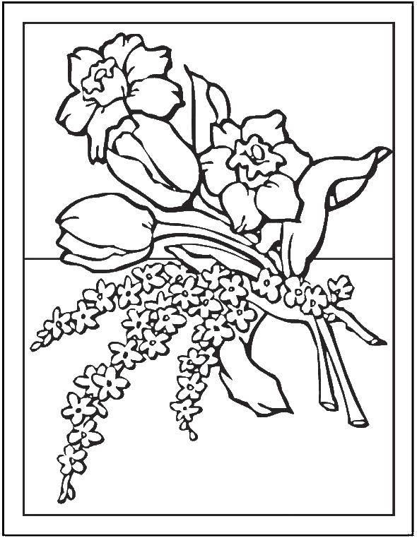 Coloring sheet flowers Download rockets, sky, star.  Print ,rockets,