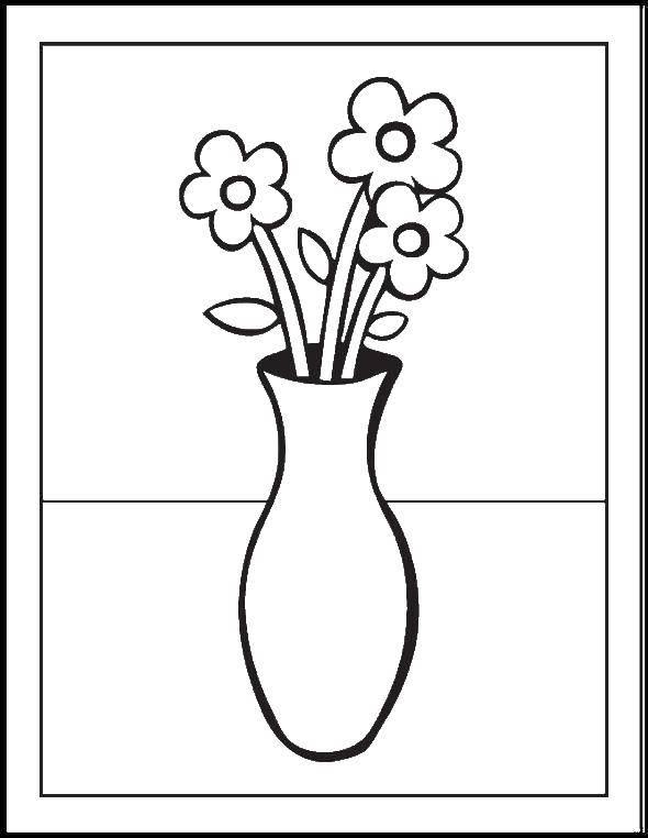 Картинки раскраски вазы