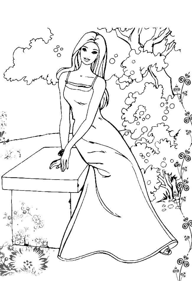 Раскраски птичками, Раскраска Платье принцессы и мышата с ...