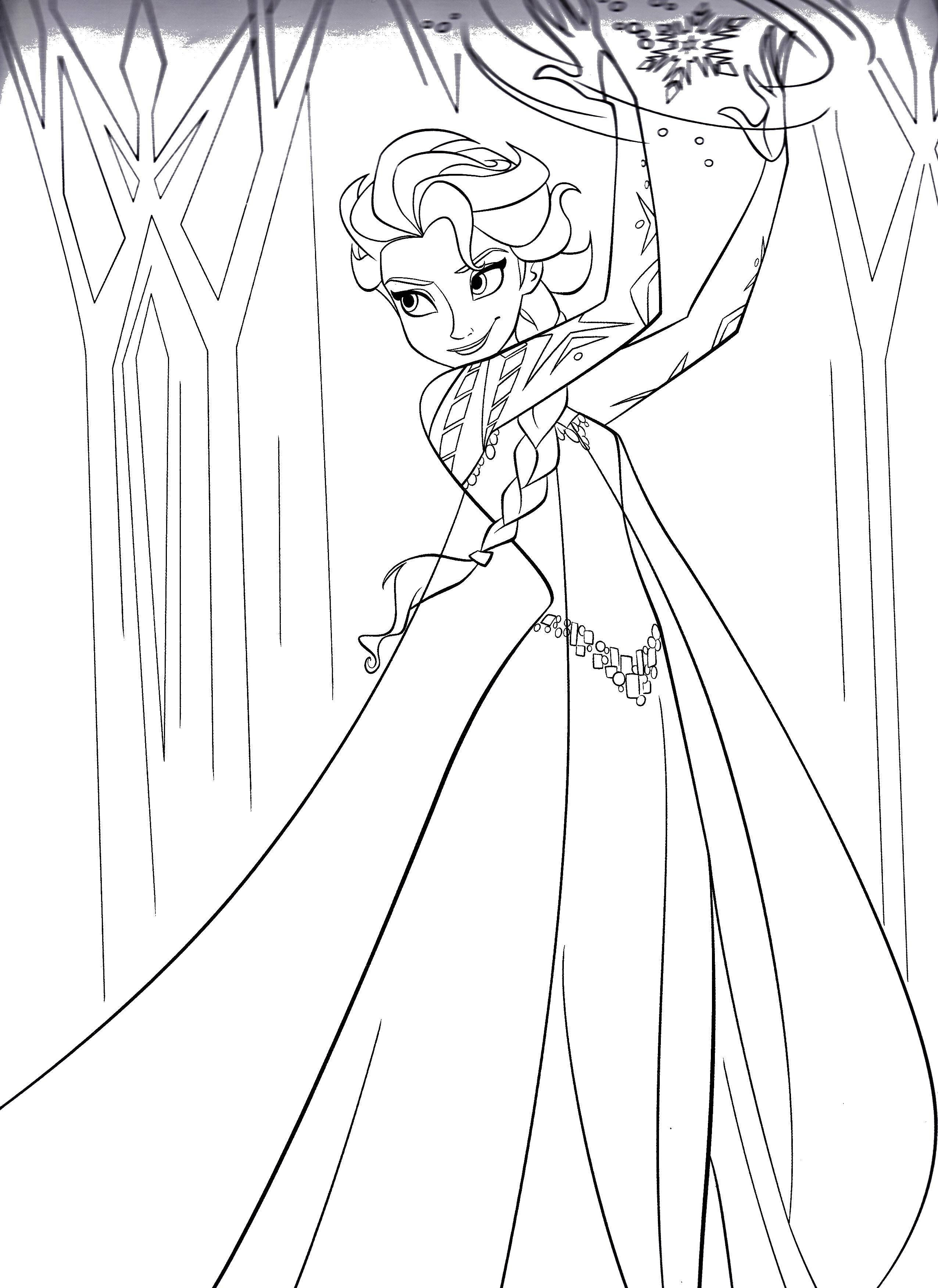Раскраска Принцесса эльза Скачать ,принцесса, сказка, Эльза,.  Распечатать