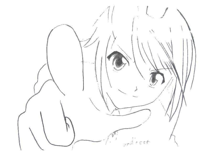 Coloring sheet anime Chara guardians Download Recognition, love.  Print ,I love you,