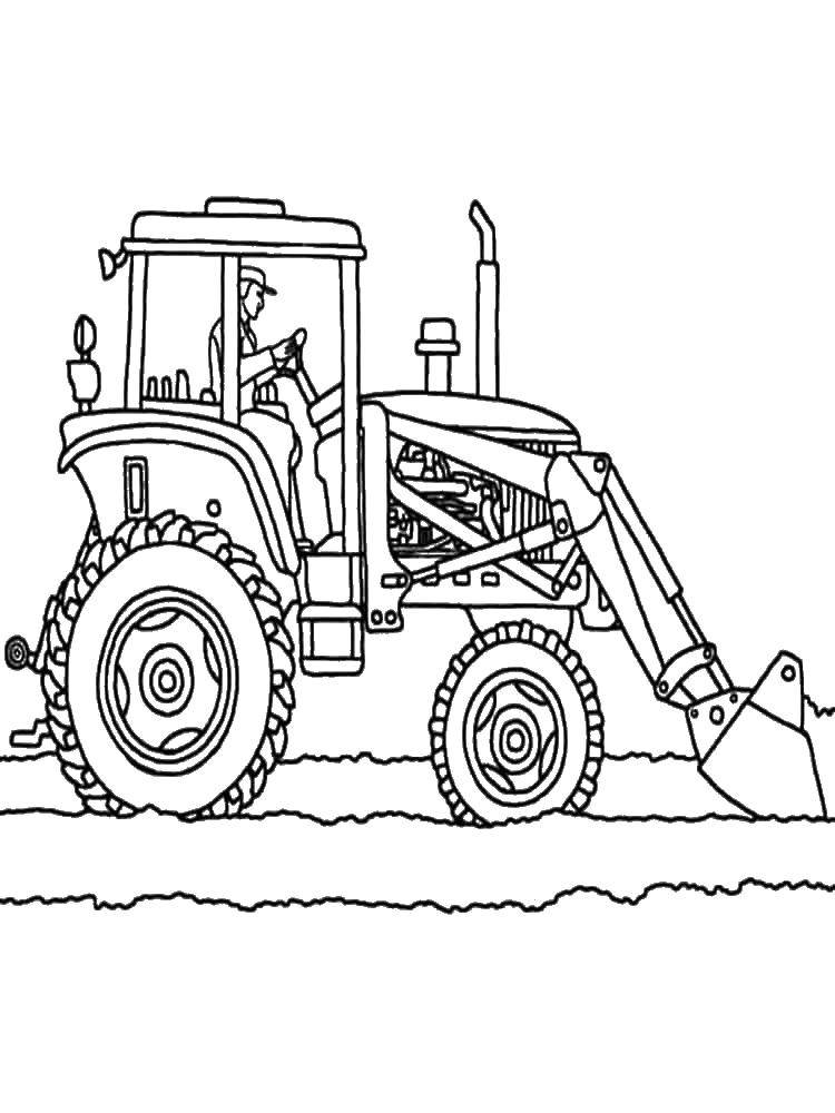 Coloring sheet tractor Download .  Print