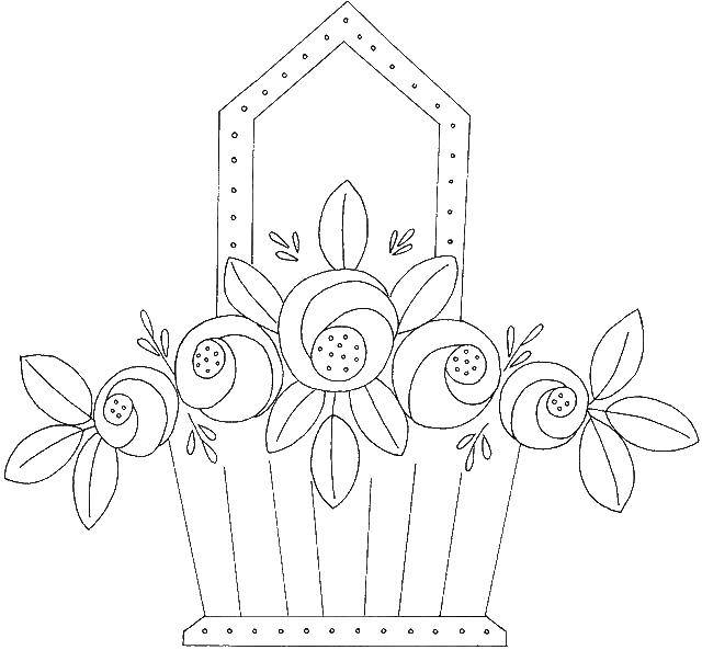 Coloring sheet flowers Download ice cream, wafer, cone,.  Print