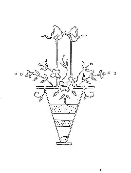Раскраски корзина, Раскраска Корзина с цветами узоры ...