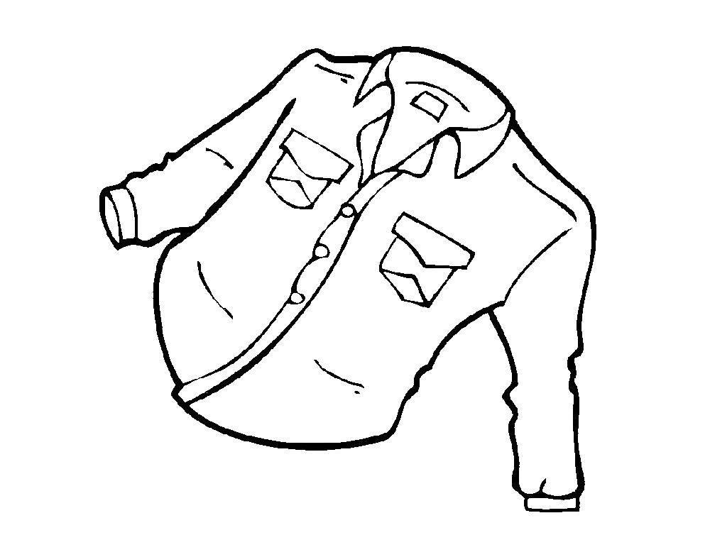 Раскраски брюки, Раскраска Брюки одежда.