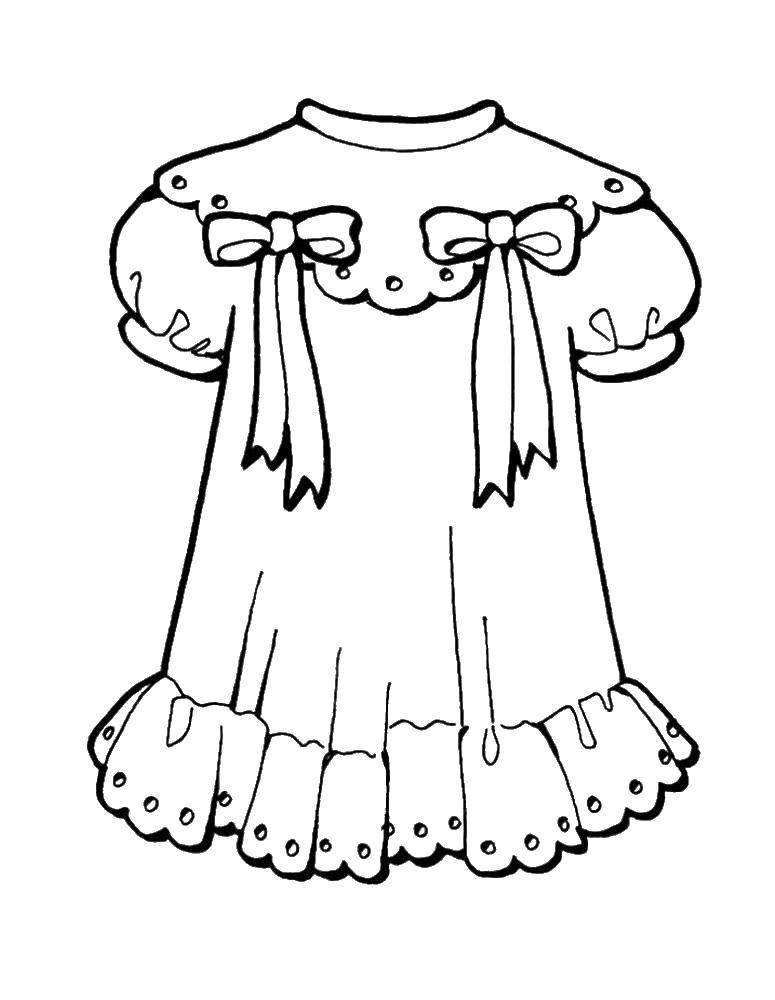 Coloring sheet Clothing Download The alphabet, letters, words,.  Print