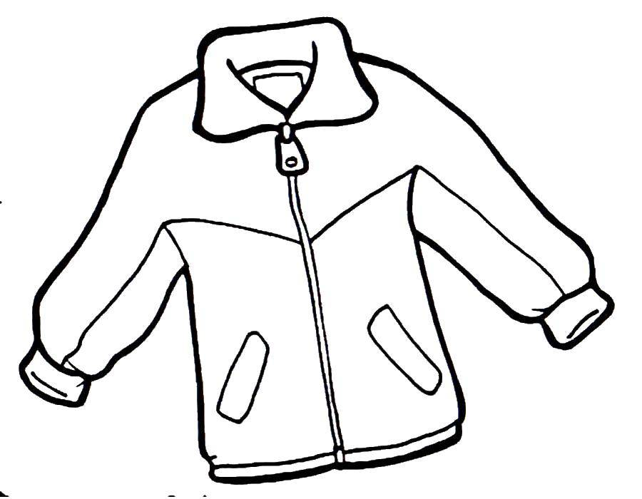 Online Coloring Pages Coloring Page Jacket Clothing Coloring Pages For Kids