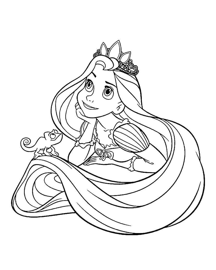 Coloring sheet Princess Download Lock.  Print ,locks ,