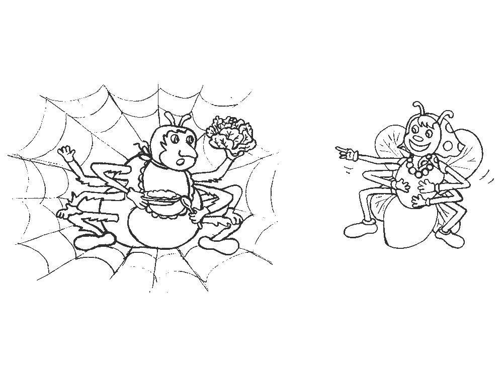 раскраска муха цокотуха картинки последнее время китайские