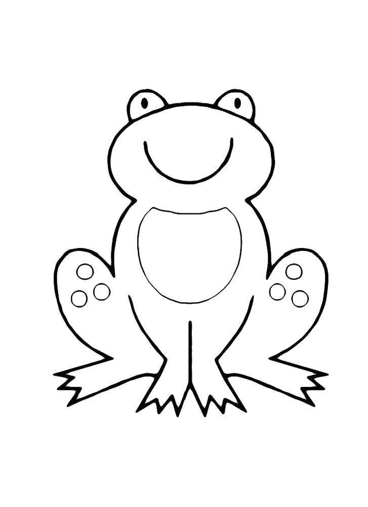 Coloring sheet frog Download month, stars, night.  Print ,coloring,