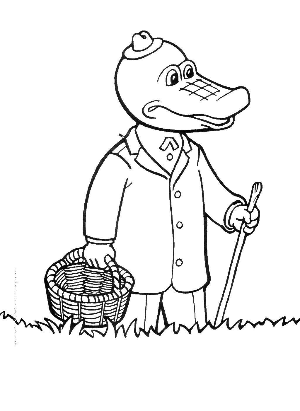 Картинки как нарисовать крокодила гену