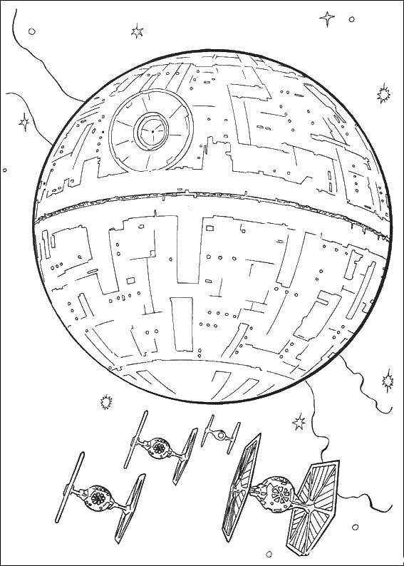 Coloring sheet spaceships Download lettering, music.  Print ,Music,