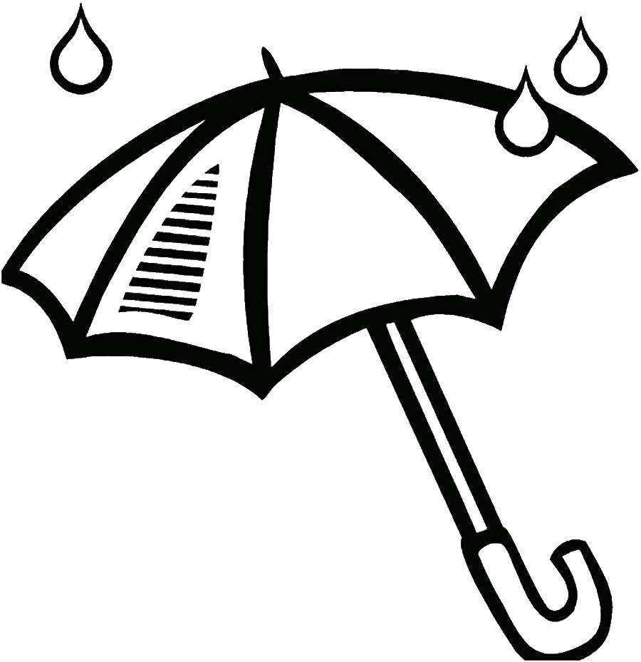 Картинка зонтик раскрасить