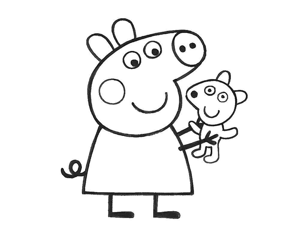 Свинка пеппа рисовать картинки распечатать