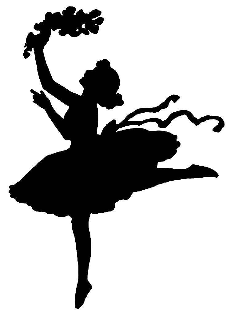 Раскраска тень балерины