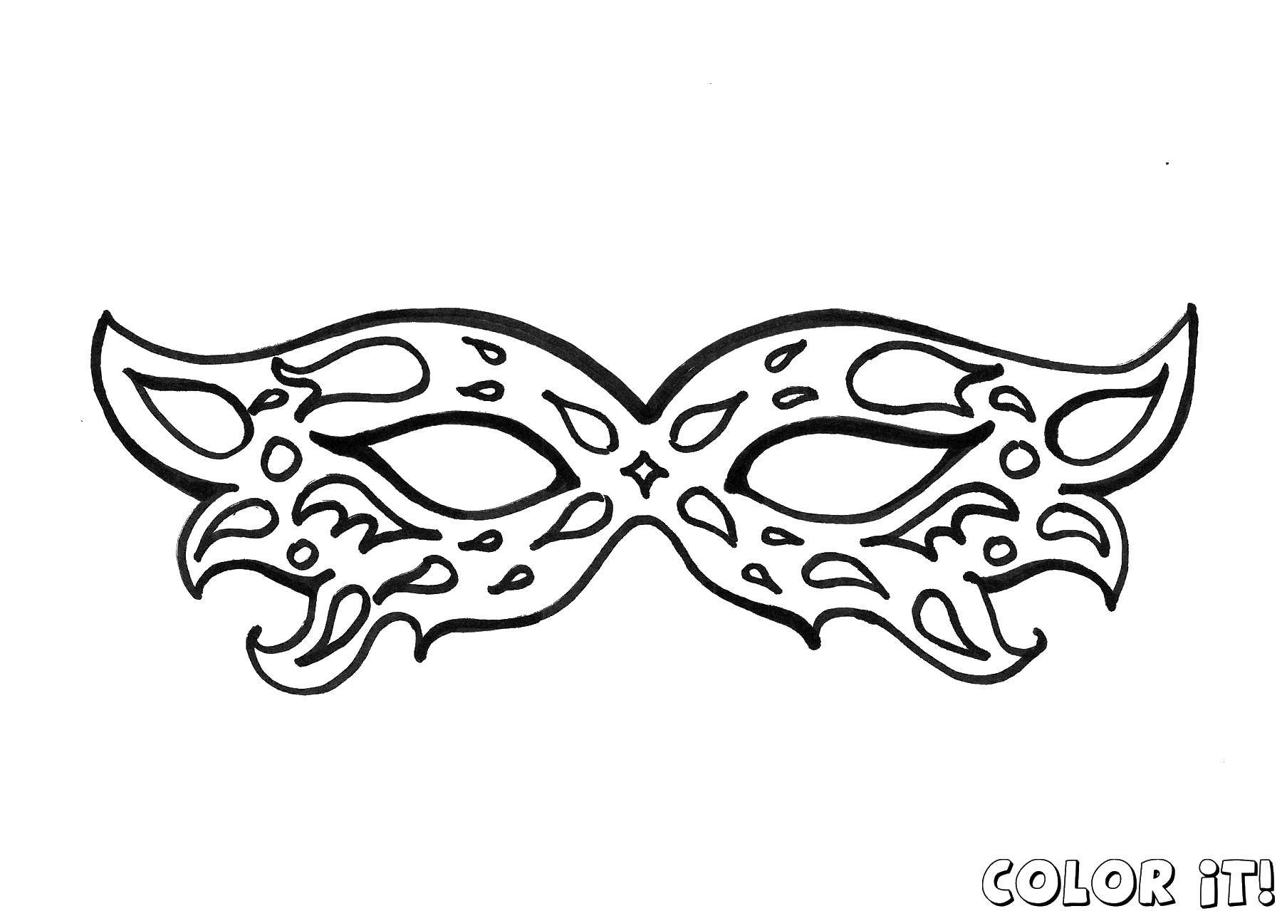 Coloring sheet Mask Download lettering, music.  Print ,Music,