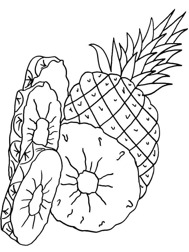 ананас раскраска для малышей твоей помощью это
