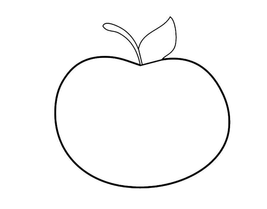 Coloring sheet Apple Download ,Cartoon character,.  Print