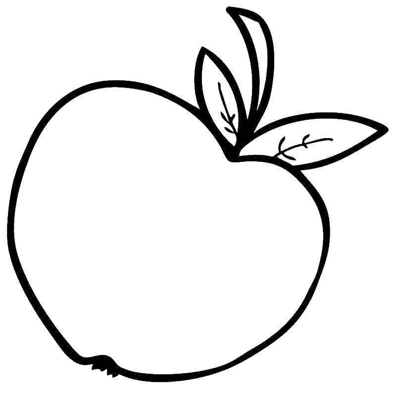 Раскраски корзина, Раскраска Корзина с яблоками яблоко.