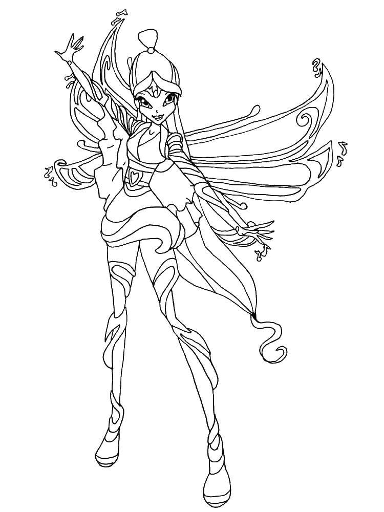 Coloring Muse fairy from winx club Download ,Musa, Winx, Fairy,.  Print