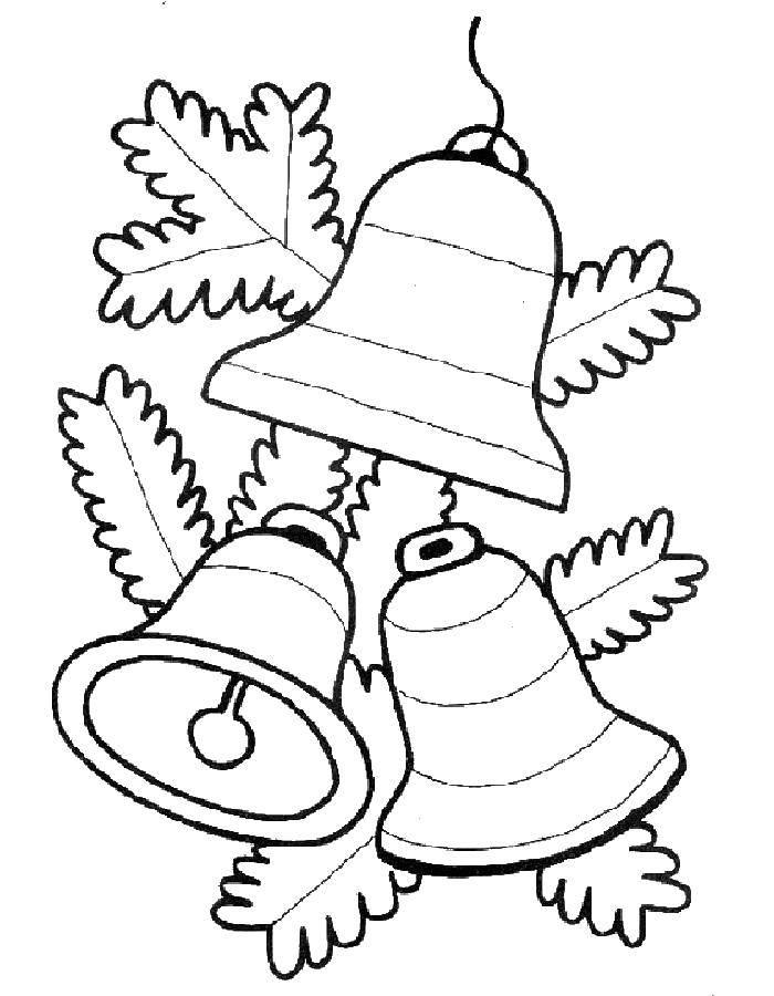 Coloring sheet bell Download .  Print