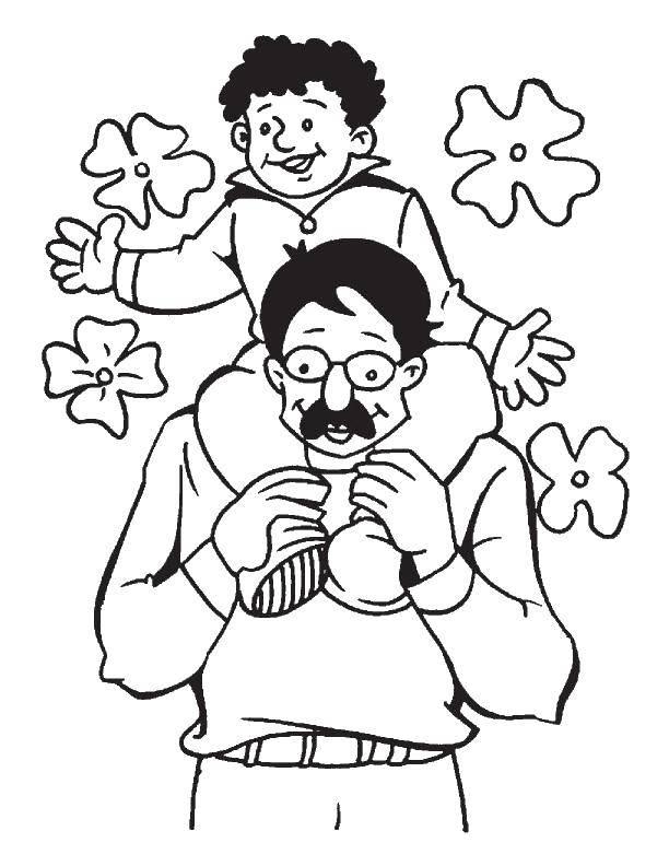 картинки для папы от дочки раскраски копчика