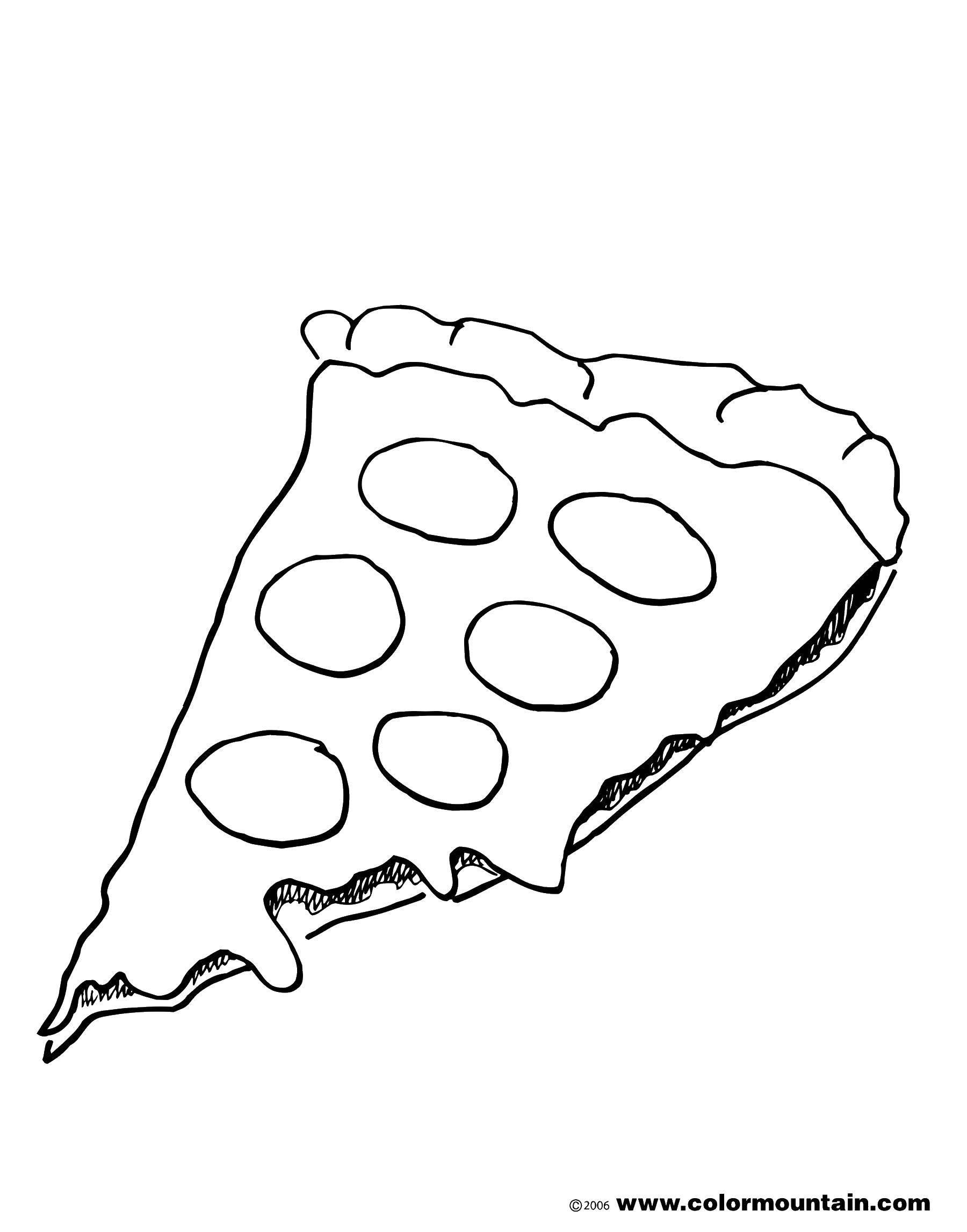 распечатать раскраски пиццы чтобы