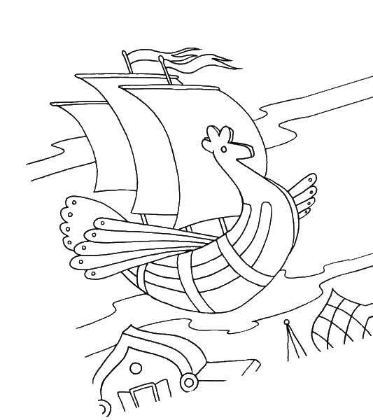иллюстрации к сказке летучий корабль раскраска мужем бесконечно благодарны