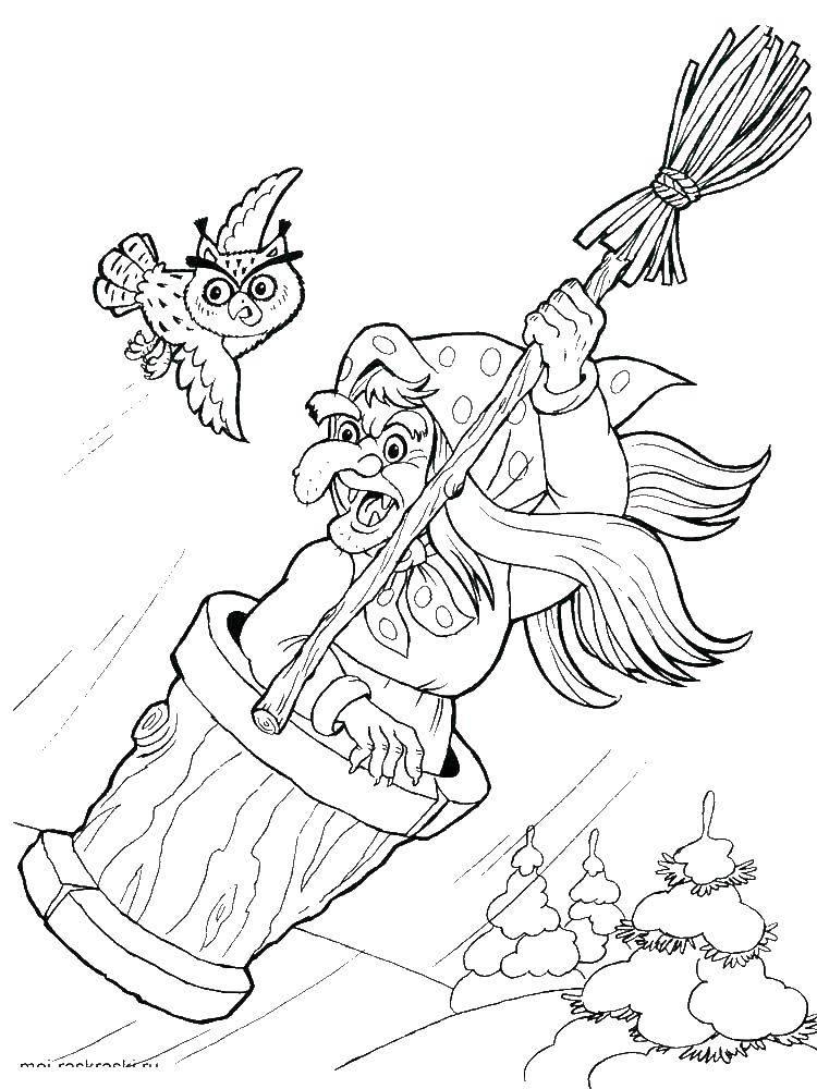 Coloring sheet Baba Yaga Download children, child.  Print ,children,