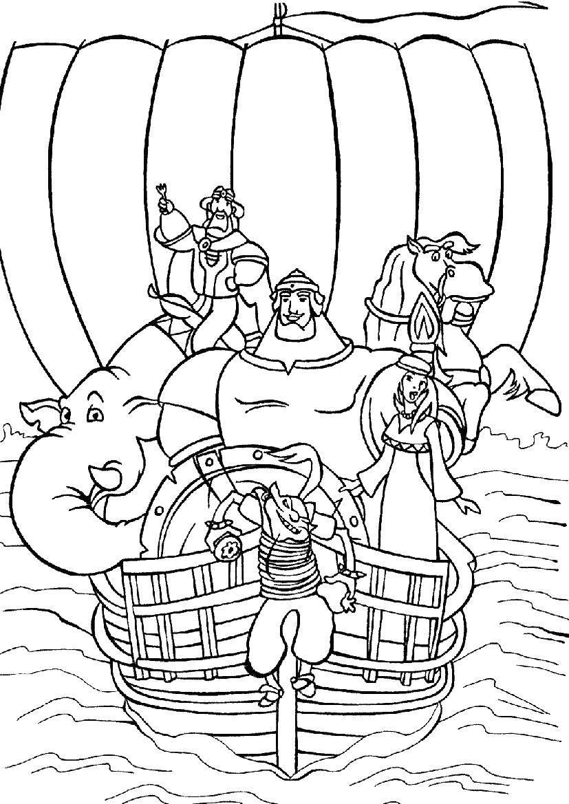 Раскраски Раскраска Страшный лесной разбойник три богатыря ...