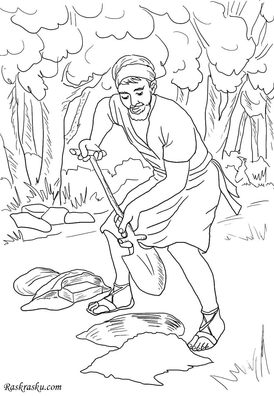 Coloring The biblical parable. Category religion. Tags:  parable, Bible.