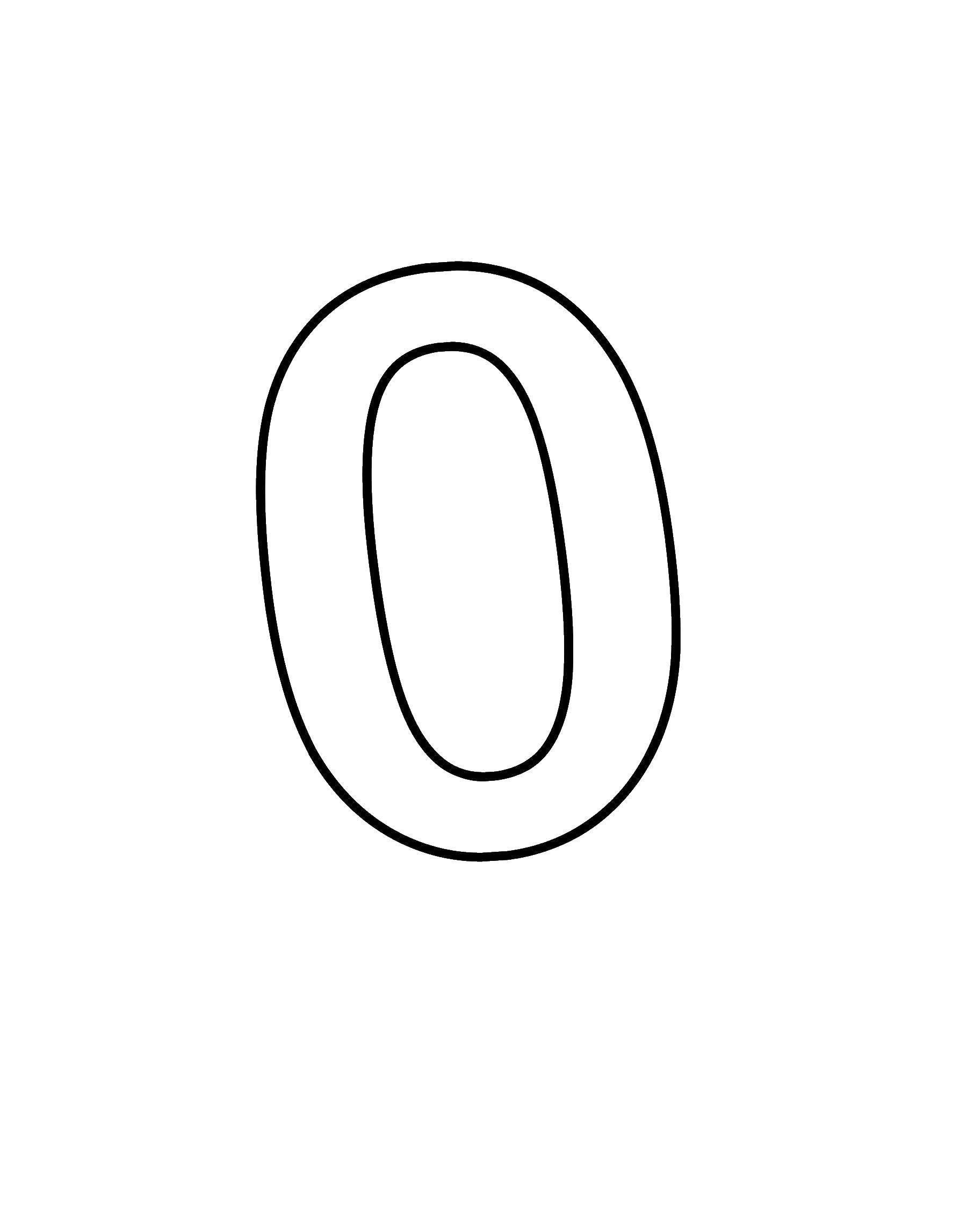цифра ноль распечатать картинки