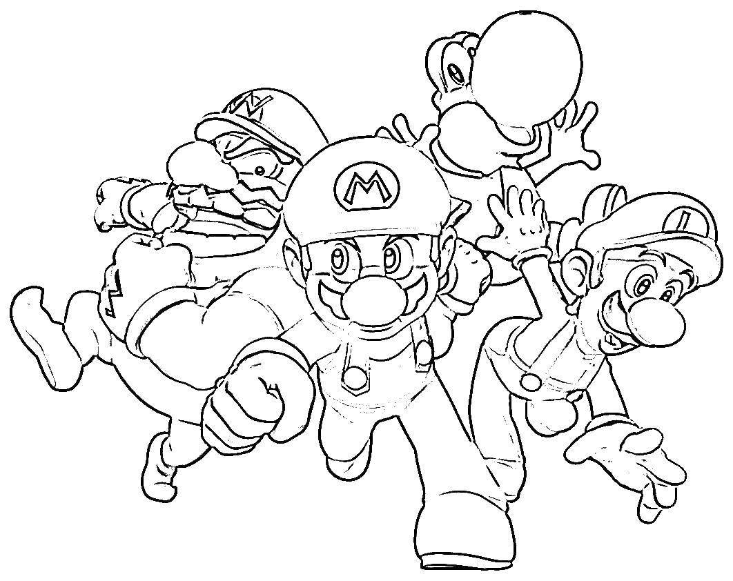 Super Mario coloring pages | Mario Bros games | Mario Bros ... | 842x1062