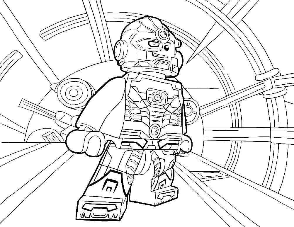 Раскраски Раскраска Лего робот Лего, скачать распечатать ...