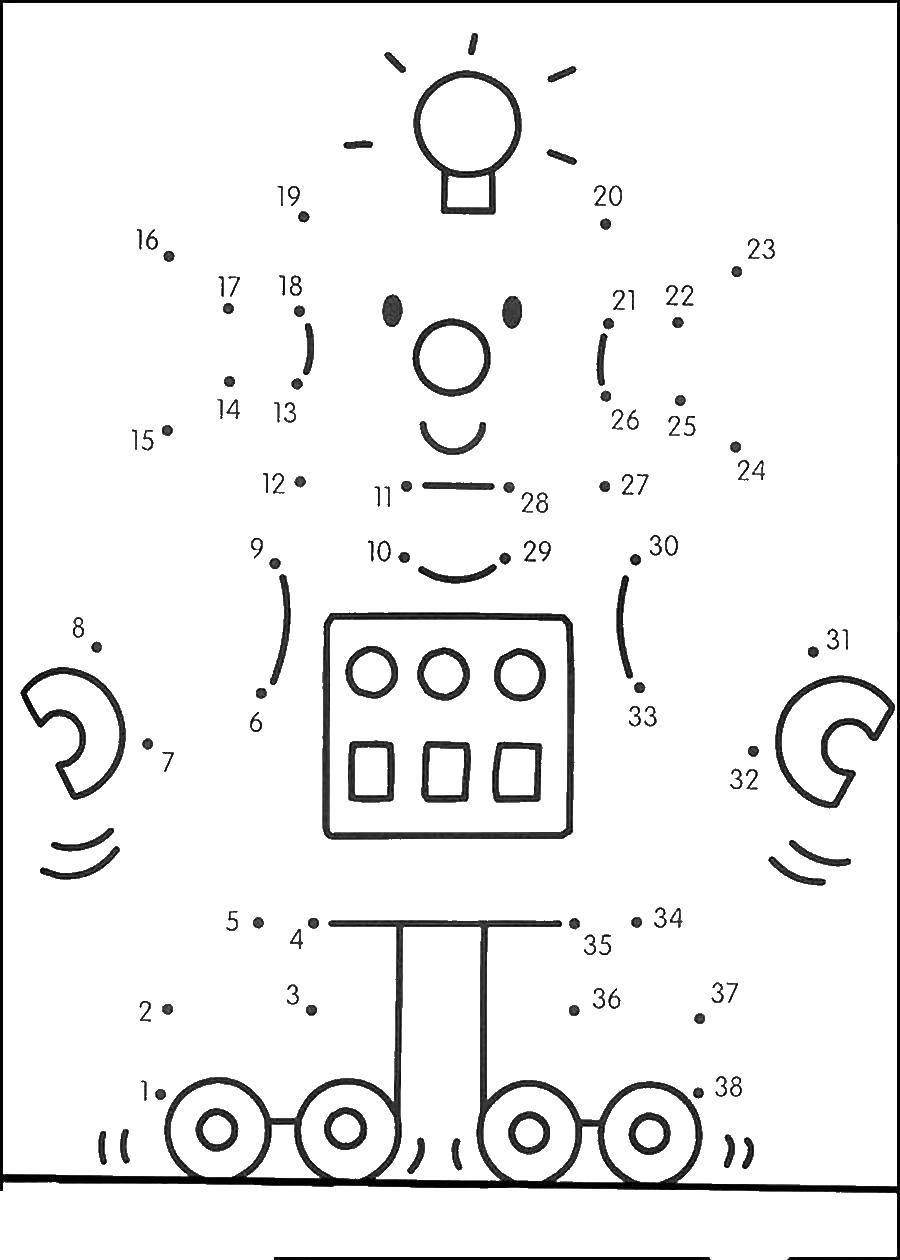 Coloring pages robot Скачать .  Распечатать