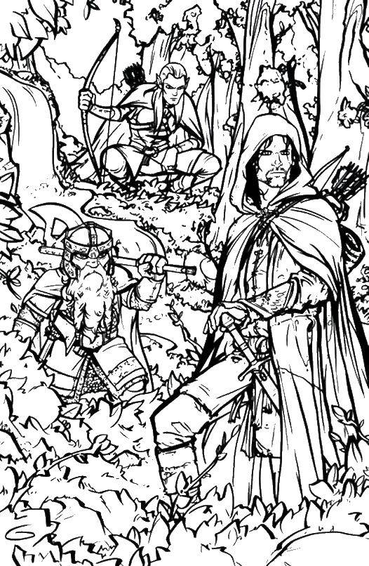 Coloring sheet the Lord of the rings Download ,super Mario,.  Print