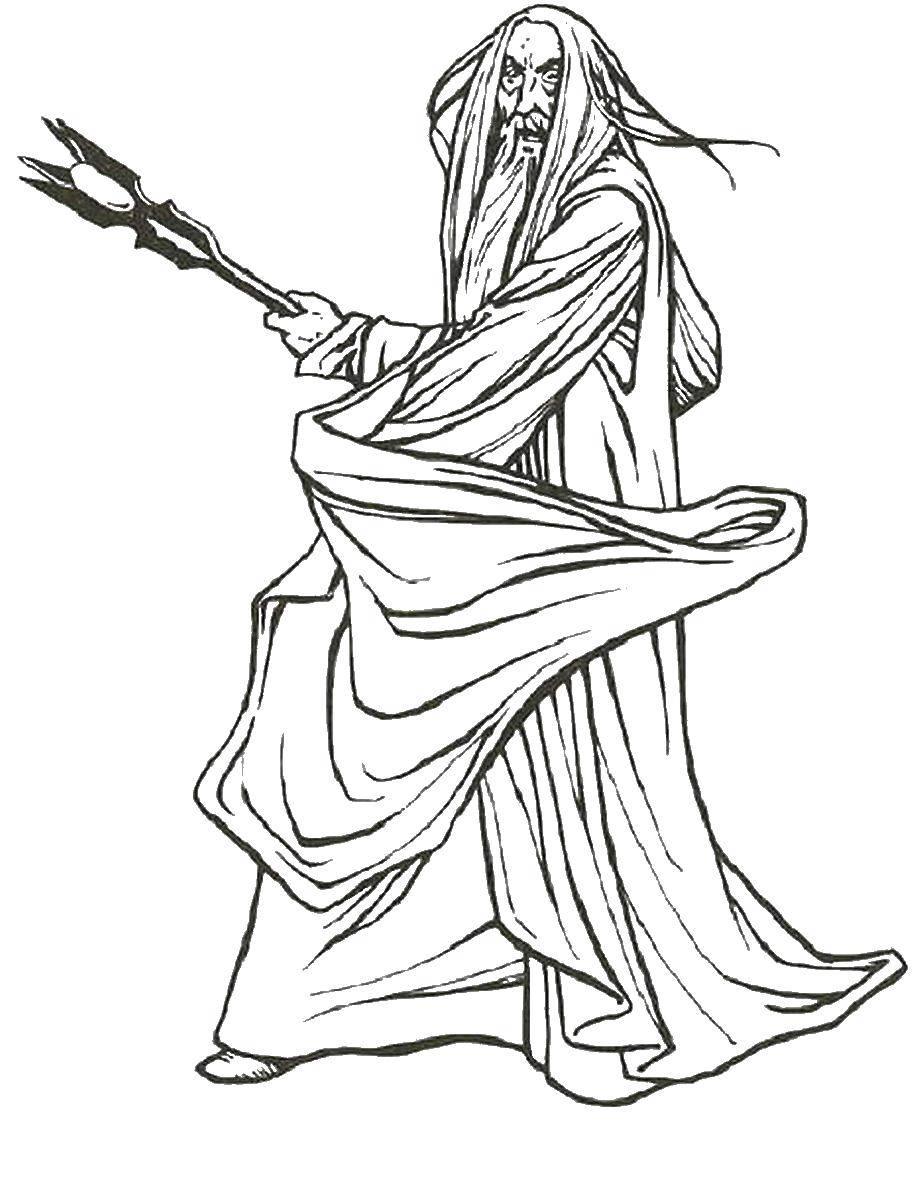 Раскраски Раскраска Хоббит с мечем властелин колец ...