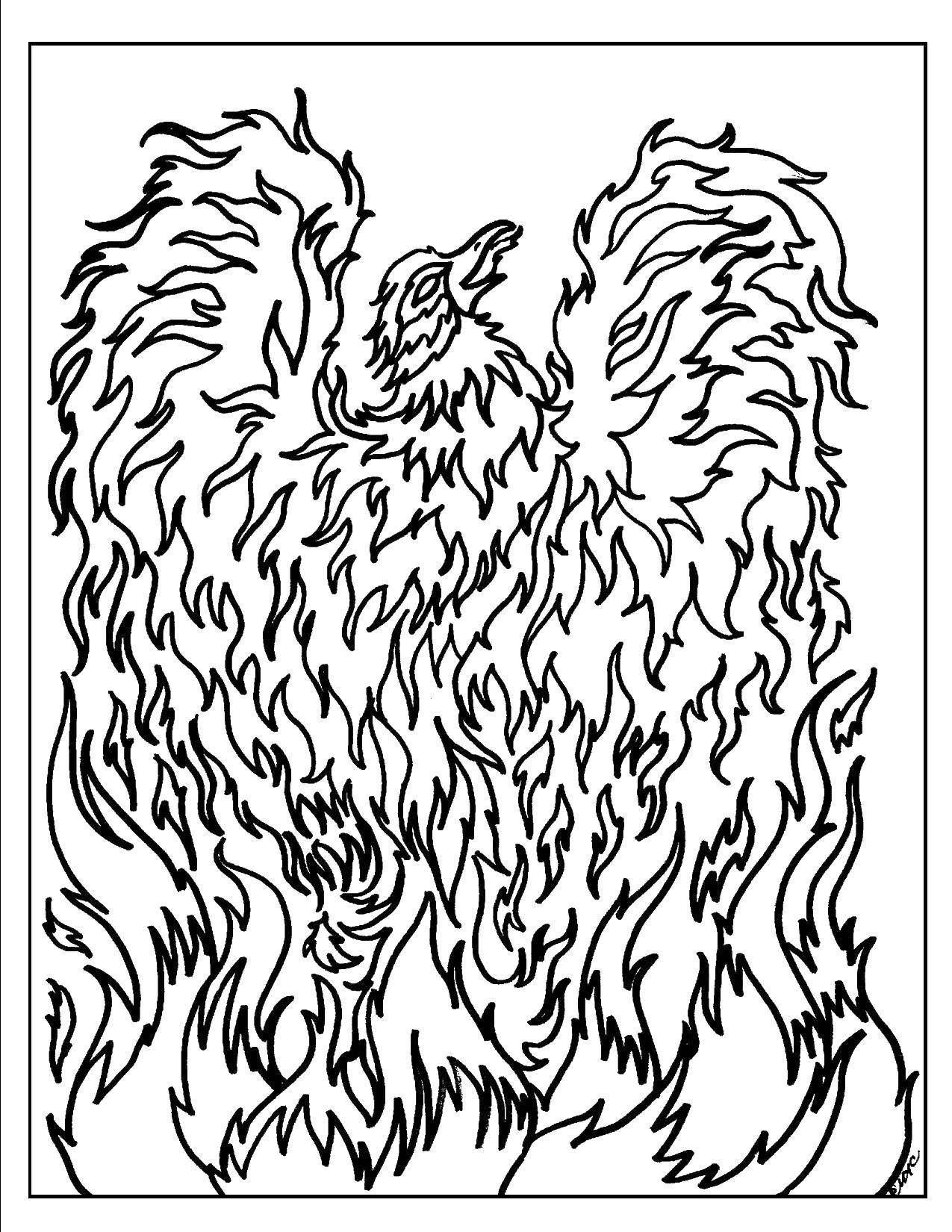 раскраски огня и пламени распечатать электрические гирлянды